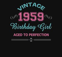 Vintage 1959 Birthday Girl Aged To Perfection Womens Fitted T-Shirt