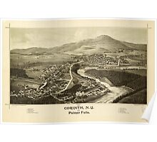 Panoramic Maps 1888 Corinth NY and Palmer Falls Poster