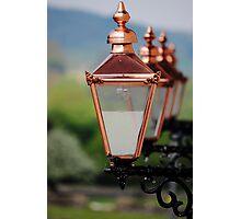 Shiny Street Lamps Photographic Print