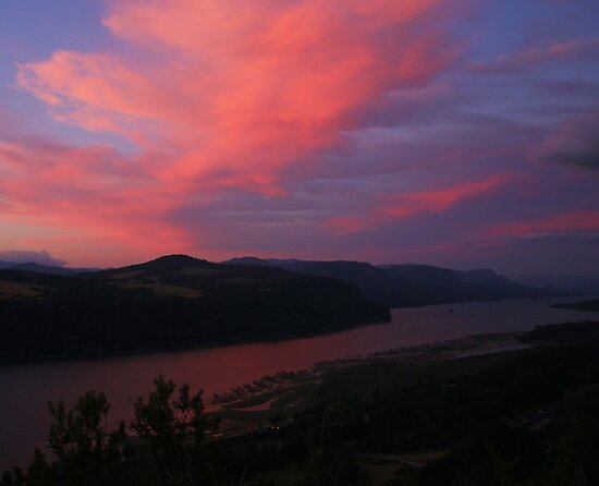 The Gorge at Sunset from Crown Point by Randy Richards