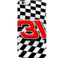 31 checkered flag iPhone Case/Skin