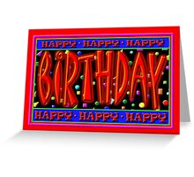 Happy Birthday, Caption Card Greeting Card