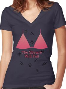 The Silence... Women's Fitted V-Neck T-Shirt