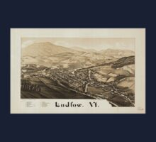 Panoramic Maps Ludlow Vt One Piece - Short Sleeve