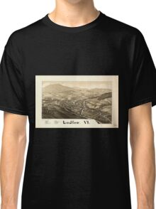 Panoramic Maps Ludlow Vt Classic T-Shirt