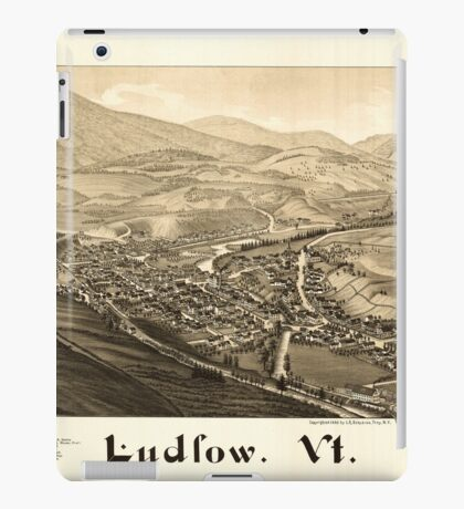 Panoramic Maps Ludlow Vt iPad Case/Skin