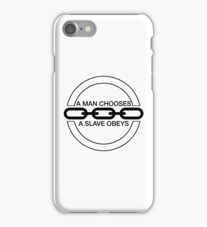 Man or Slave (Black) iPhone Case/Skin