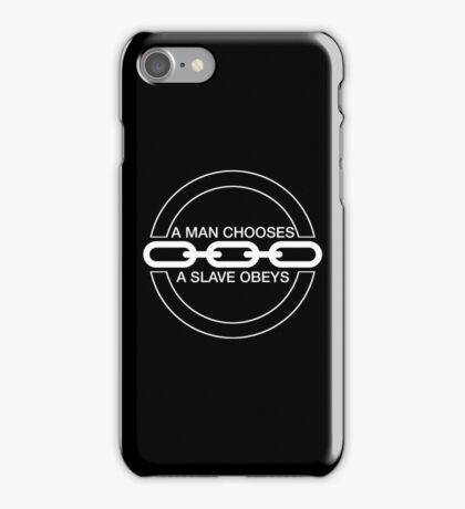 Man or Slave (White) iPhone Case/Skin
