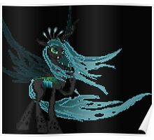 Queen Chrysalis Pixel My Little Pony Brony Pegasister Poster