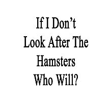 If I Don't Look After The Hamsters Who Will Photographic Print
