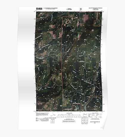 USGS Topo Map Washington State WA Gillette Mountain 20110428 TM Poster
