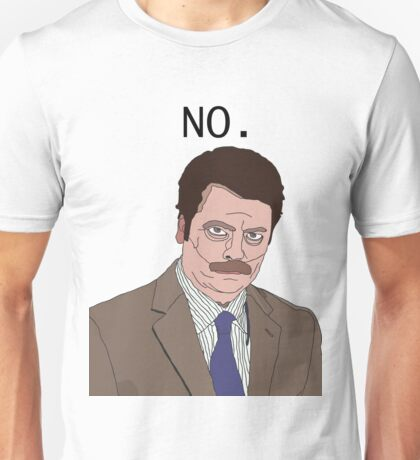 "R. Swanson - ""No"" Unisex T-Shirt"