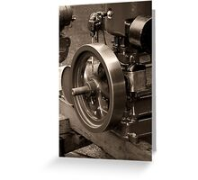 Old Glory Wolseley Engine Greeting Card
