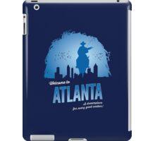 Welcome To Atlanta (blue) iPad Case/Skin