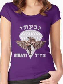 The Givati Brigade for Dark Women's Fitted Scoop T-Shirt