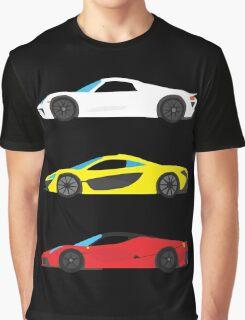 """Modern European Dream Cars """"The Trinity"""" Graphic T-Shirt"""
