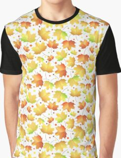Autumn maple leaves pattern Graphic T-Shirt