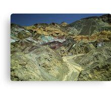 Coloured Hillside Canvas Print