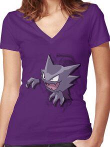 Haunter - Pokemon - Bigger Image Women's Fitted V-Neck T-Shirt