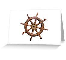 Vintage Ships Wheel Greeting Card
