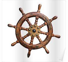 Vintage Ships Wheel Poster