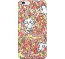 A Family in Autumn iPhone Case/Skin