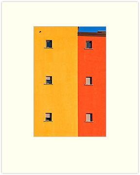 Yellow, orange, blue with windows by Silvia Ganora