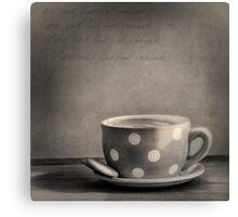 Coffee Break Black and White Canvas Print