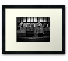 Alleyways of big time business.  Framed Print