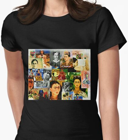 Obsessed with Frida Kahlo Womens Fitted T-Shirt