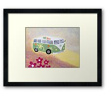 Campervan fun Framed Print