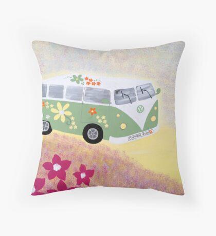 Campervan fun Throw Pillow
