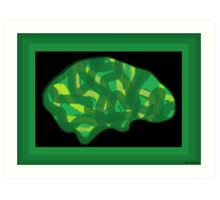Veg Head (Think Green) Art Print