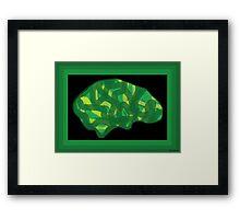 Veg Head (Think Green) Framed Print