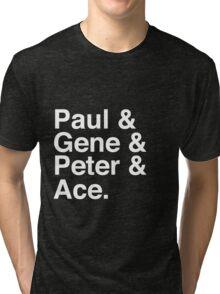 Paul & Gene & Peter & Ace Kiss T-Shirt Tri-blend T-Shirt
