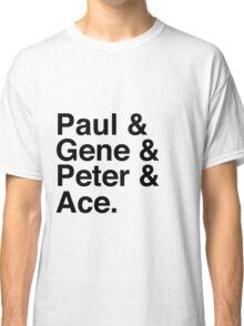 Paul & Gene & Peter & Ace Kiss T-Shirt Classic T-Shirt