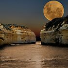 Moon over Loch Ard Gorge by Kerryn Ryan, Mosaic Avenues
