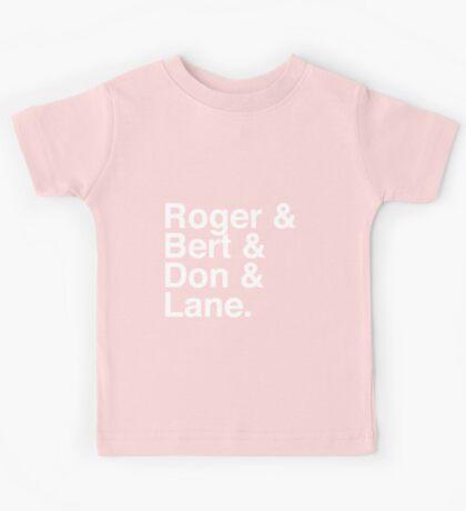 Roger & Bert & Don & Lane Mad Men T-Shirt Kids Tee