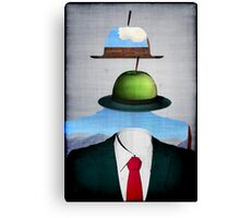 Tribute to René Magritte Canvas Print