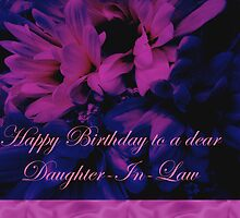 Daughter-in-Law Birthday Card        Chrysanthemum by MotherNature