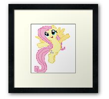 Fluttershy Pixel My little pony Brony Pegasister Framed Print