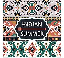 Aztec fashion tribal seamless pattern Photographic Print