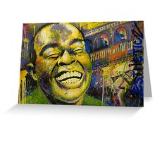 """Satchmo"" (Jazzy Cake Paint) Greeting Card"