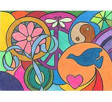 Peace, Love, and Balance Photographic Print