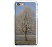 Frost on the tree. iPhone Case/Skin