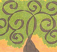 Scroll Work Tree by scifigoofy