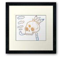 Indian Skull  Framed Print