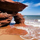 Red Rock Arch, Prince Edward Island, Canada by Kenneth Keifer
