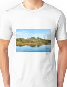 Ripples from an underwater spring can be seen  Unisex T-Shirt