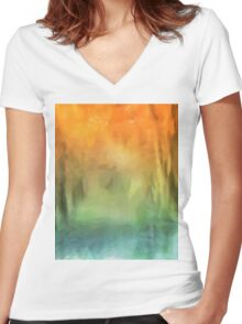 Autumn Colours Women's Fitted V-Neck T-Shirt
